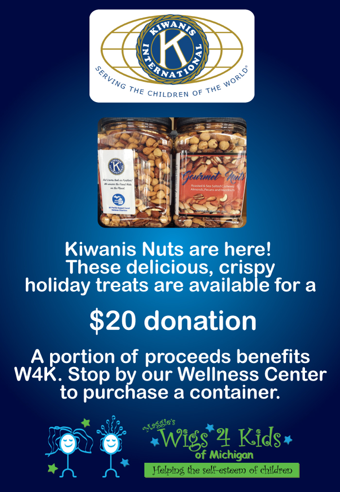 Holiday Nuts with Kiwanis - Wigs4Kids of Michigan - Blog and