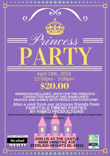 Paul Mitchell the School Princess Party - Wigs4Kids of