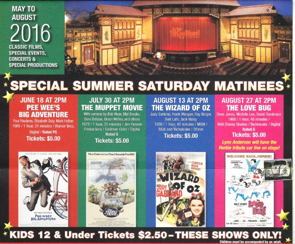 Redford Theatre Offering Movie Tickets for W4K Families