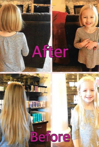 Harper Donates Her Hair to Wigs 4 Kids! - Wigs4Kids of Michigan