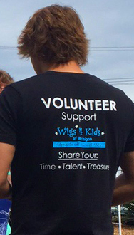 Merchandise - Wigs4Kids of Michigan   - w4kvolunteershirt