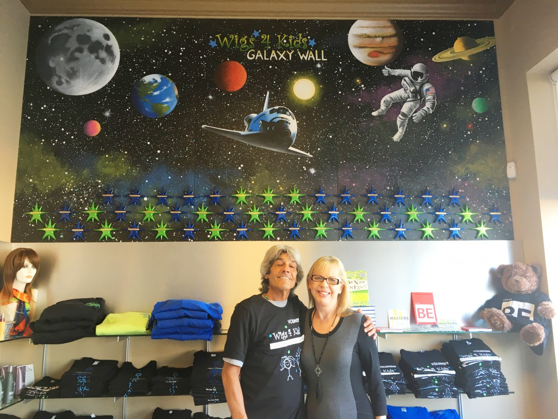 Wigs4Kids of Michigan - Founding Memberships - MVB_and_Dan_Melendez_at_Galaxy_Wall