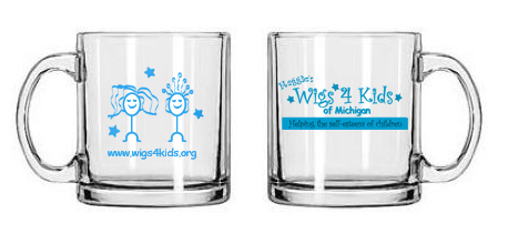 Merchandise - Wigs4Kids of Michigan   - glass-mugs