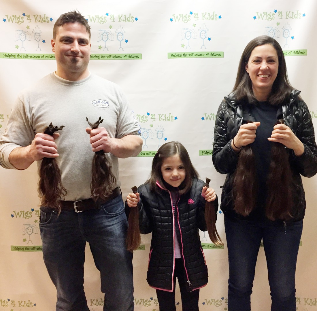 Wigs4Kids of Michigan - How You Can Help - Waskel_Family_Hair_Donations