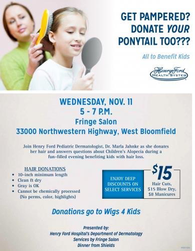 Henry Ford Health System Cut-a-thon - Wigs 4 Kids of