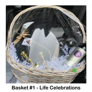 Wine Cabernet Sauvignon,  2 Decorative Wine Glasses, 2 Black Napkins, Fine Chocolates, Brass Candle Snuffer, 2 Brass Candle Holders