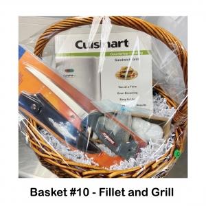 Cuisinart Sandwich Grill, Shimano Fillet Knife with Sheath, Elephant Salt & Pepper Shaker