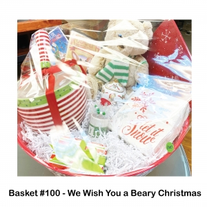 Brown Teddy Bear w/Scarf, Christmas DVD, Gift Card Holder, Joy Candle, Let It Snow Napkins, Red Snowflake Platter, Rudolph DVD, Teddy Bear Teapot, Xmas Mixing Bowl w/Whisk
