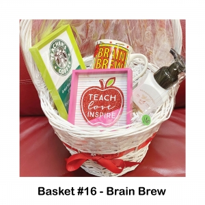 "$15 Starbucks Gift Card,                      Green Frame,                                   Teacher Coffee Mug,                            ""Peaceful"" Hand Soap,                                  ""Teach Love Inspire"" Picture"