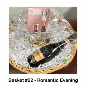 Crystal Vase Centerpiece, 2 Crystal Glasses,          $100 Mr. Paul's Chophouse Gift Card,          Small Heart Frame,                     Wine Set,                                           Champagne