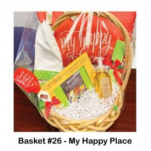 "$25 Kroger Gift Card, 2 Cupcake Spatulas, Floral Apron, Lemon Hand Soap, Kitchen Utensils Set, ""My Happy Place"" Pillow"