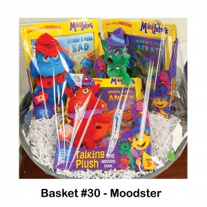 Moodsters Afraid Plush & Book, Moodsters Angry Plush & Book, Moodsters Sad Plush & Book