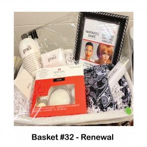 $50 Fantastic Sams Gift Card, Make-Up Bag, Paul Mitchell Dry Shampoo, Pure Grace Body Crème, Perfume, Shampoo, Shower Gel, Renewal Advanced Cleaning
