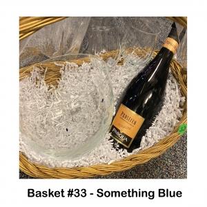 2 Crystal Glasses, Champagne, Oleg Something Blue Bowl