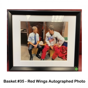 Red Wings  Autographed Photo of Ted Lindsay and Dylan Larkin