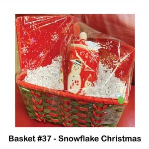 Medium & Large Red, Snowflake Cookie Dishes, Snowflake Cookie Jar