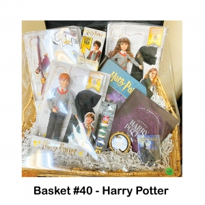 Collectable Wand, Dolls: Harry, Ron and Hermione, Journal, Mirrored Compact, Playing Cards, Spell Book with Page Clips