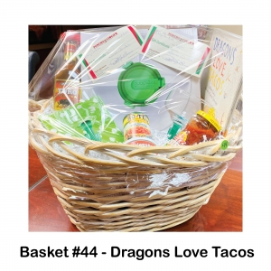 2 $30 Poncho & Cisco's  Gift Cards, Cactus Margarita Glasses, Cheddar Queso Dip, Dragons Love Tacos Book, El Toro Tequila, Guac-Lock Case & Chip Dish, Pace Medium Salsa Jar, Polka Dot Napkins, Rotel Tomatoes & Chilis