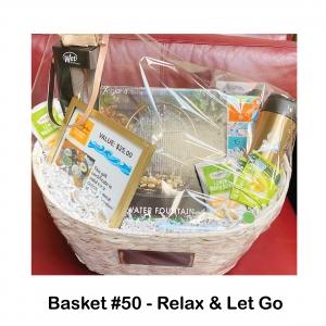 $25 Cedar Garden Gift Card, 2 Boxes of Green Tea, 2 Lemon Wafer Bites, Ashland Water Fountain, Headband, Hair Tie, Mountain Notepad, Teavana Thermos, Wet Brush Pro