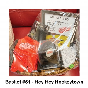 $25 Buffalo Wild Wings  Gift Card, Red Wings Gloves, Signed Ted Lindsay Puck