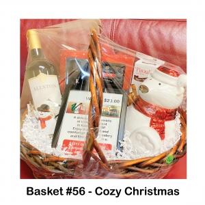 $20 Villa Restaurant Gift Card, Allston Estate Cabernet, Bear Candle, Praline Cream Wafers, Pure Essential Oils Xmas Set, Silver Snowman Wine Holder