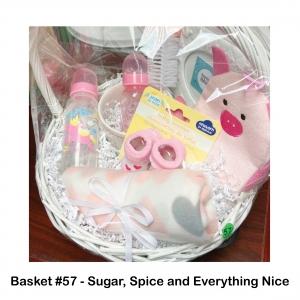 $25 Buy Buy Baby Gift Card, 2 Pink Baby Bottles, Baby's Christening Frame, Bath Mitt & Blanket, Booties, Flower Print Bowl, Pink Baby Bottle Scrubber