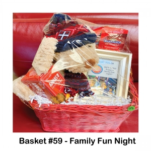 $25 Dave & Buster's Gift Card, 2 Packs of Ghirardelli Cocoa, Anna's Swedish Ginger Thins, Stuffed Dog