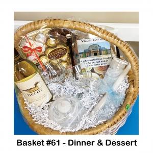 $50 Olive Garden Gift Card, 2 Wine Glasses, Decoy Sauvignon Blanc, Ferrero Chocolates, Flameless Tealight, Pillar Candle, White Swirl Candle Holder, White Swirl Candle Stick