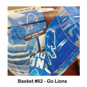 Detroit Lions 3/4 Sleeve Women's Large T-shirt, Detroit Lions Blanket, Detroit Lions Hat, Detroit Lions Pillow