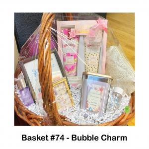 "$15 Bath & Body Works  Gift Card, Body Wash & Crème Set, Clinique Makeup Remover, Lancome Face Cleanser, Makeup Bag, Mini Jewelry Box, Purple Vase, Silver ""Dream"" Necklace, Yankee Candle Lavender"