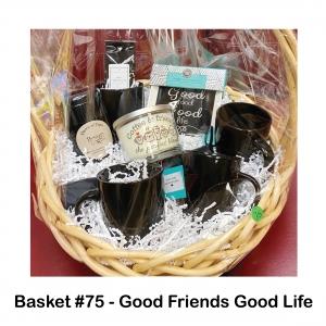 4 Black Coffee Mugs, 4 Porcelain Plates, Boston Tea Room Black Tea, Coffee & Friends Candle, Hot Chocolate Mix, Strawberry Pieces & Honey, Tea Pot, Umbrella