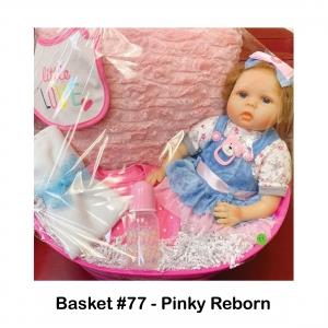 """Little Love"" Baby Bib, Pink Baby Bib, Pink Baby Bottle, Pink Pillow, Pinky Reborn Doll, White Baby Blanket"