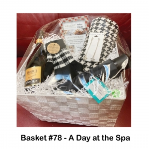 2 $25 Margot Spa Gift Cards, Gloves & Scarf, Lindt Chocolates, Prosecco Champagne, Star Drop Earrings, Umbrella