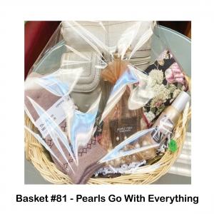 Flower Travel Jewelry Case, Gold Tignanello Purse, Pearl Bracelet/Earring Set, Women's Socks, Yankee Candle Seaside Woods