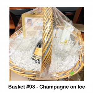 $50 Go Green Salon Gift Card, 2 Candles, 2 Crystal Wine Glasses, Crystal Bowl, Crystal Vase, Prosecco Champagne