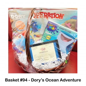 $30 Premier Entertainment Gift Card, Dory Ball, Dory Color & Play Book, Dory Operation Game