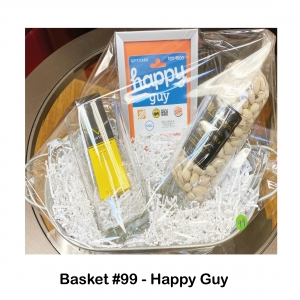 $25 Happy Guy Gift Card, 2 Large Beer Steins, Bag of Pistachio Nuts, Mitch Construction Paste
