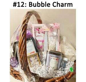 Makeup Bag, Body Wash & Body Crème, Bath & Body Works Gift Card, Purple Vase, Silver Necklace, Mini Jewelry Box, Clinique Makeup Remover, Lancôme Cleanser, Yankee Candle Sea Salt Lavender  Total Basket Value: $174.00