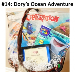 Dory Operation Game, Dory Color & Play Book, Dory Ball,  Premier Entertainment gift card  Total Basket Value: $67.00