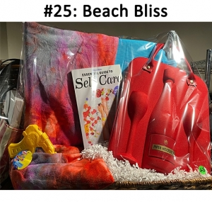Sling Lounge Chair, Sun Lounger Cover, Piper Heidsieck Red Champagne Set Bag, Self-Care Book, Power Shot Squirt gun  Total Basket Value: $166.00