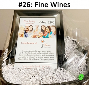 Wines for Humanity Gift Certificate, 2 stemless wine glasses.   Total basket value: $350.00