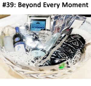 Bed, Bath & Beyond Gift Card, Barefoot Merlot Wine, Snow Angel Shampoo/Shower Gel & Body Souffle, Mary Kay Satin Hands Trio, Wall Sticker, Black & White Scarf, Coffee Mug Candle, Muk-Luc Slipper Socks, 4 Angel art set, Paparazzi Earrings and Necklace Set, Scarf Ring  Total Basket Value: $227.00
