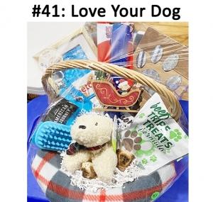 Stuffed Bear, Dog Brush, Beef Treats, Bison Treats, Training Bits - Salmon Recipe, PetCo Gift Card, Dog Keychain, Salt & Pepper Shakers, Ornament, Kong Toy, Paw Hook  Total Basket Value: $134.00