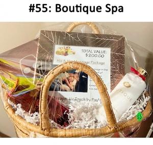 Boutique Bath and Shower Gel & Lotion Set - Frosted Cranberry & Orange, 111 Skin rose gold brightening mask set, His & Hers massage session  Total Basket Value: $375.00
