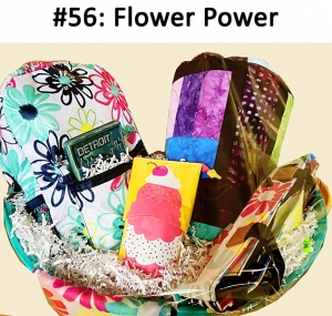Thirty One Lil' Go Flower Backpack, Organizing Zip Case Sweet Blossom Pebble, Ice Cream Pouch, Blossom Scarf, Rainbow Quilt, Detroit Pewabic Pottery Tile  Total Basket Value: $463.00