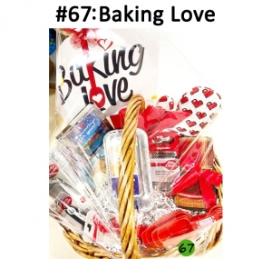 Disposable Loaf Pans, Kroger Gift Card, Measuring Cups & Spoons, Cheese Grater, Peeler, Scissors, Cooking Utensils, Oven Mitt, Towel, Bread Cook Book, Cupcake Stencils, Sign  Total Basket Value: $172.00