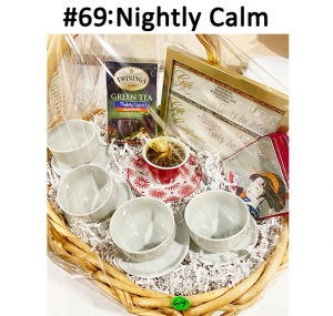 Green Tea, 4 Cups & Saucers Tea Set, Friendship Candle with Cup & Saucer, Set of Coasters, 2 Sy Thai Shores Gift Cards  Total Basket Value: $87.00