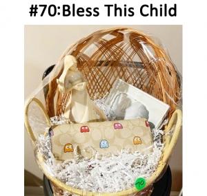 Pregnant angel figure, bless this child frame, Coach PacMan purse  Total Basket Value: $288.00