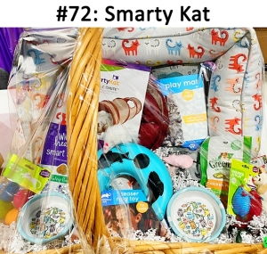 Cat Bed, Tunnel, Play Mat, Ring Toy, Food & Water Bowl, 4 Toy Balls, Catnip Mouse & Lamb, Greenie Treats, Dental Treats   Total Basket Value: $129.00