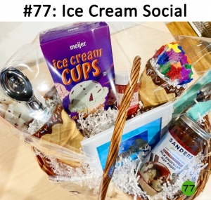 Wally's Gift Card, 2 Ice Cream Dishes, Set of Ice Cream Spoons, Ice Cream Scoops, Ice Cream Cones, Sprinkles, Sanders Hot Fudge  Total Basket Value: $95.00